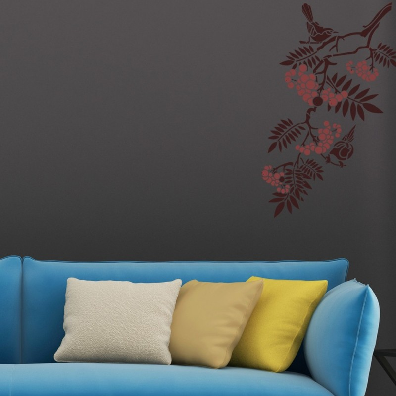 Large Wall Stencils Birds on a Branch for DIY Wall decor, Better than decals