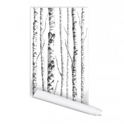 Birch Tree 01 Peel & Stick Repositionable Fabric Wallpaper