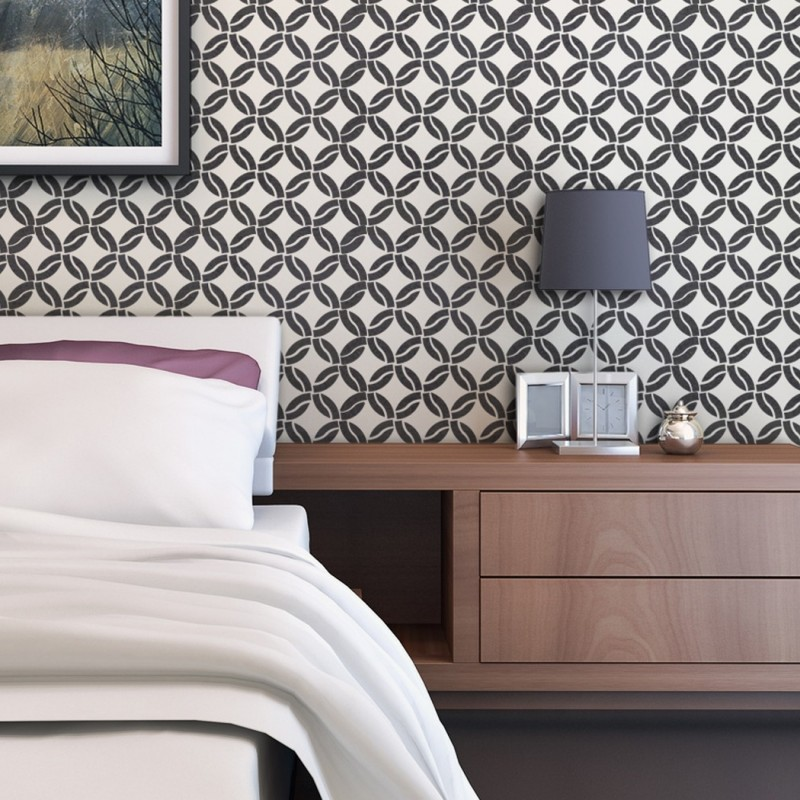Modern Geometric Wall Stencil Arista, For Easy DIY Home Decor Reusable Pattern