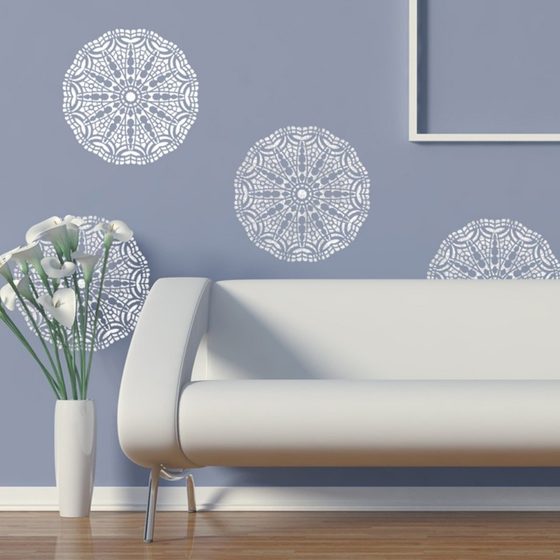Wall Lace Decorative Stencil Talia for Home Painting Decorating DIY Decor