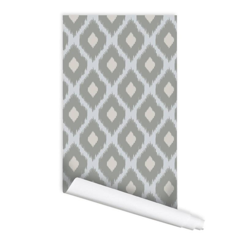 Ikat Pattern 01 Peel & Stick Repositionable Fabric Wallpaper