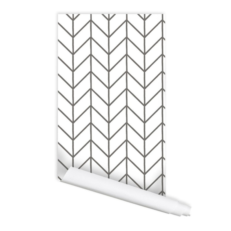 Herringbone Chevron Pattern 01 Peel & Stick Repositionable Fabric Wallpaper