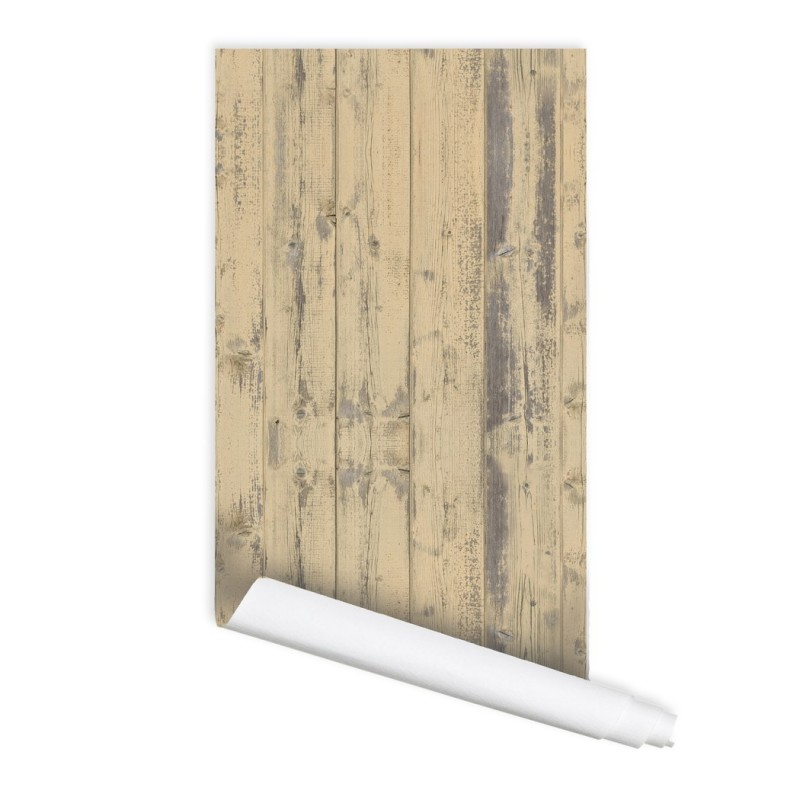 Old Wood Pattern Peel & Stick Repositionable Fabric Wallpaper
