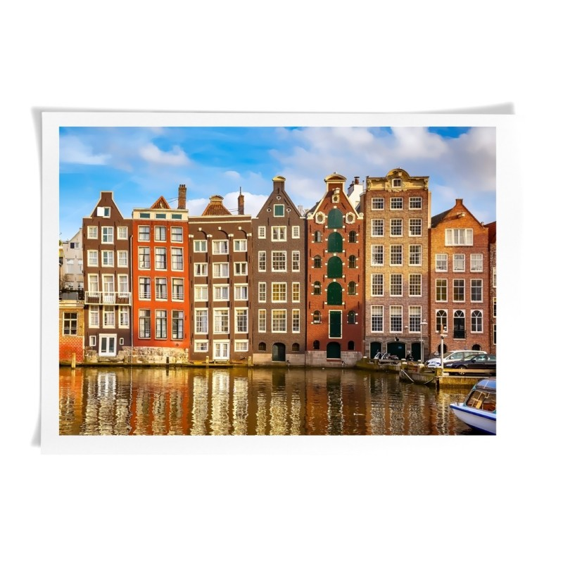 Amsterdam photography - Printing on Canvas Wall Decorative Modern style