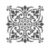 LARGE WALL STENCILS DAMASK STENCIL DIY REUSABLE PATTERN DECOR FAUX MURAL V0011