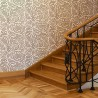 Large Ethnic Wall Stencil Elroy for DIY, Wallpaper Look and easy Home Decor