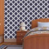 Wall Stencil Moroccan Allover Pattern Iris -set(2 sheets)- Room decor Painting