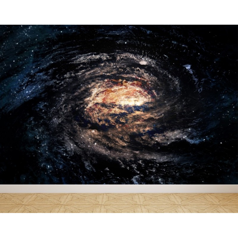Wall Mural Spiral galaxy in space, Peel and Stick Repositionable Fabric Wallpaper for Interior Home Decor