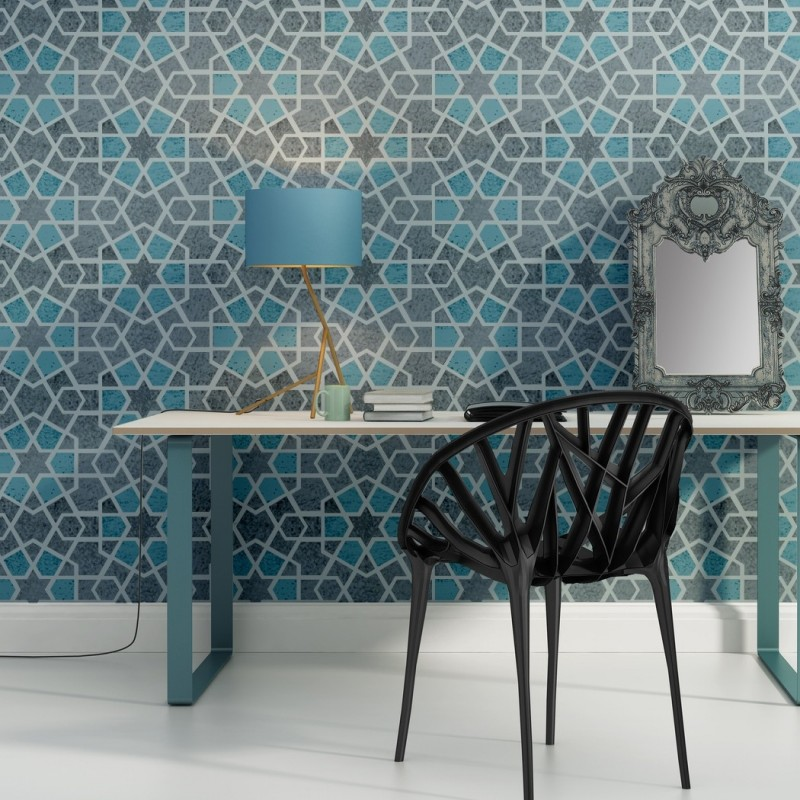 Geometric Wall Stencil Paige for DIY project Home Decor Wallpaper Look