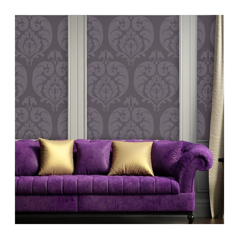 Wall Stencil Large Isabella Damask Allover Stencil for graceful wall stenciling