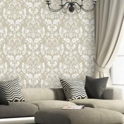 Wall Stencil Large Damask Leonard stencils better than wallpaper for DIY decor