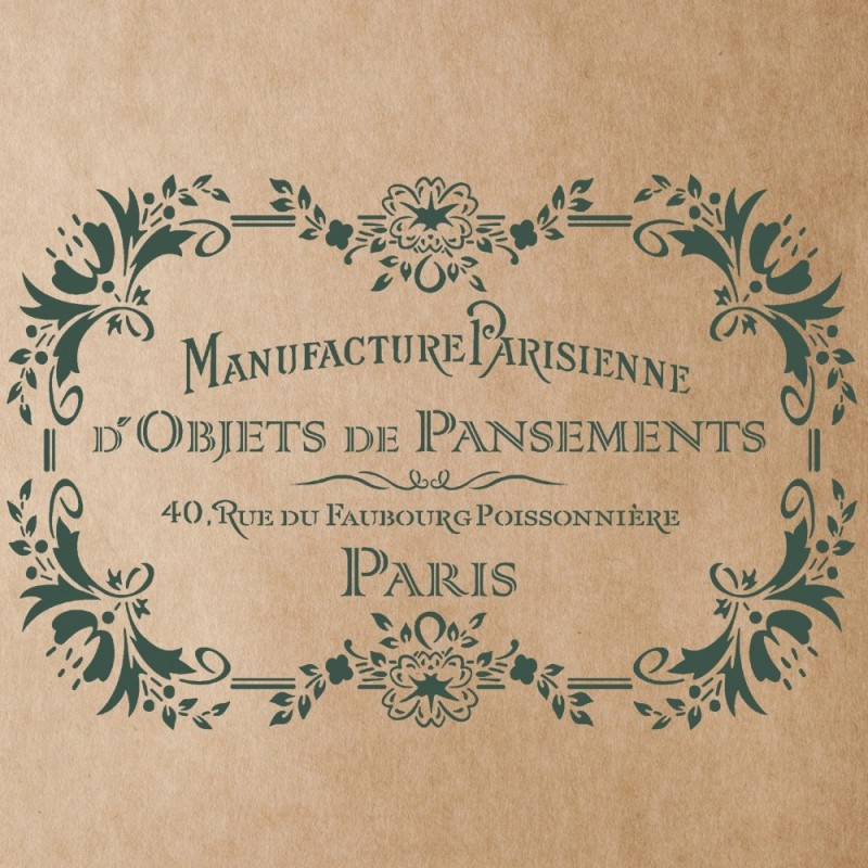 Manufacture Parisienne Stencil for Painting Signs Crafting DIY Wall decor - Artistic stencil