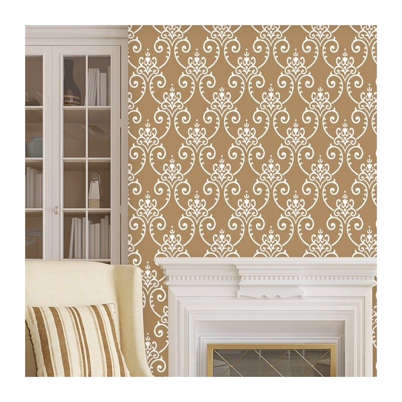 Wall Damask Stencil Erica Allover Wall Pattern for DIY