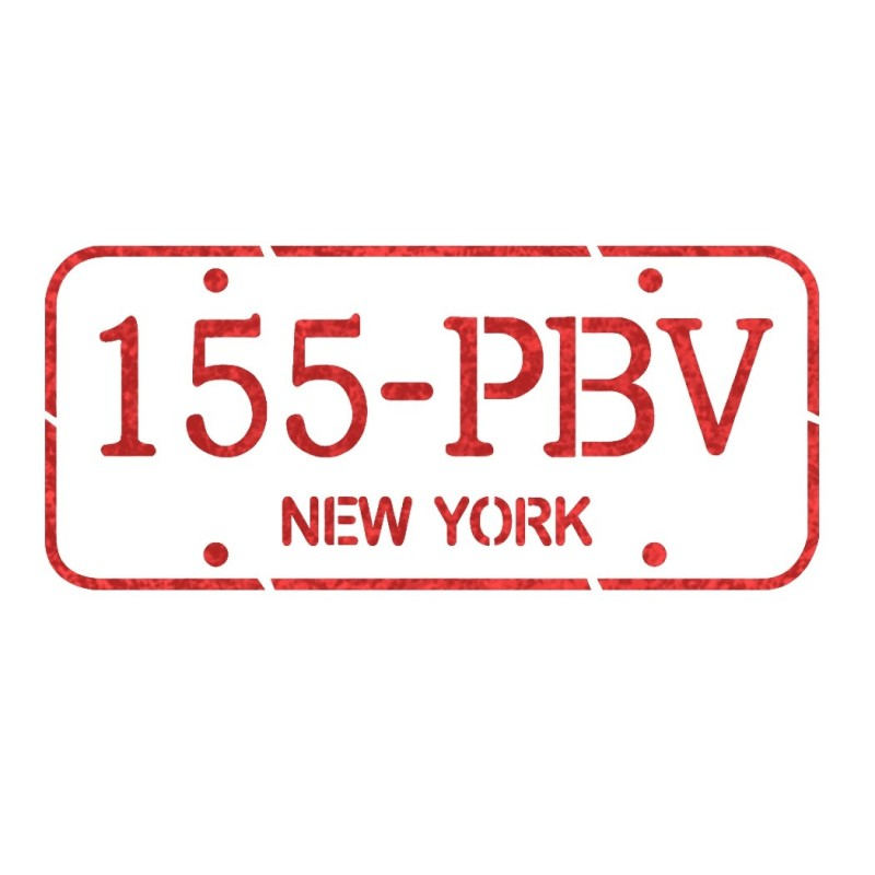 Car Number plate stencil New York for Crafting Canvas Signs decor