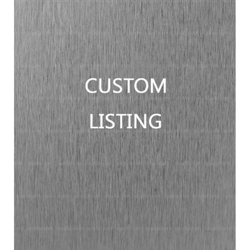 Custom listing for Alejandro - Reserved