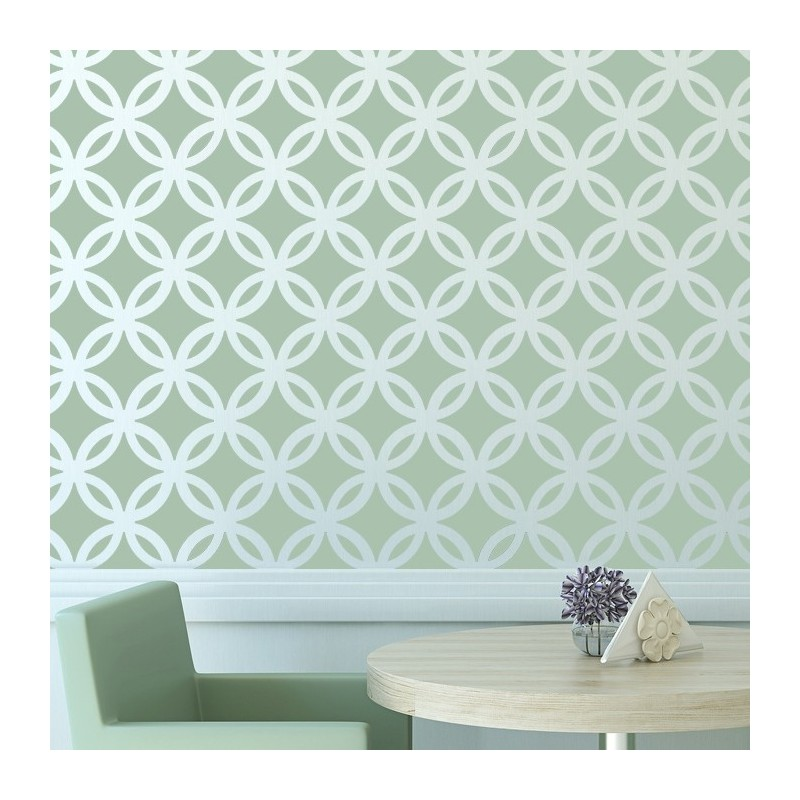 moroccan wall stencil lattice circle allover pattern for diy decor