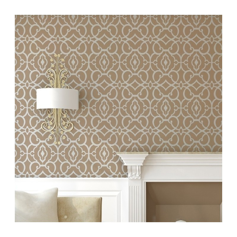 Geometric Allover Pattern Wall Stencil Emily for DIY decor Wallpaper Look