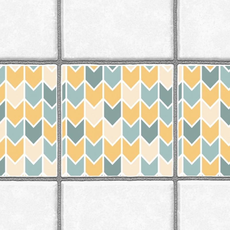 Decorative Tiles Stickers Chevron Pattern - Pack of 16 tiles - Tile ...
