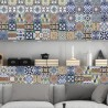 Portuguese Tiles Stickers Amadora - Pack of 36 tiles - Tile Decals Art for Walls Kitchen backsplash Bathroom