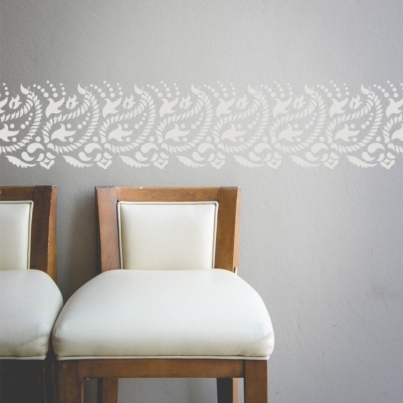 Paisley Wall Border Stencil For Diy Decor Indian Design