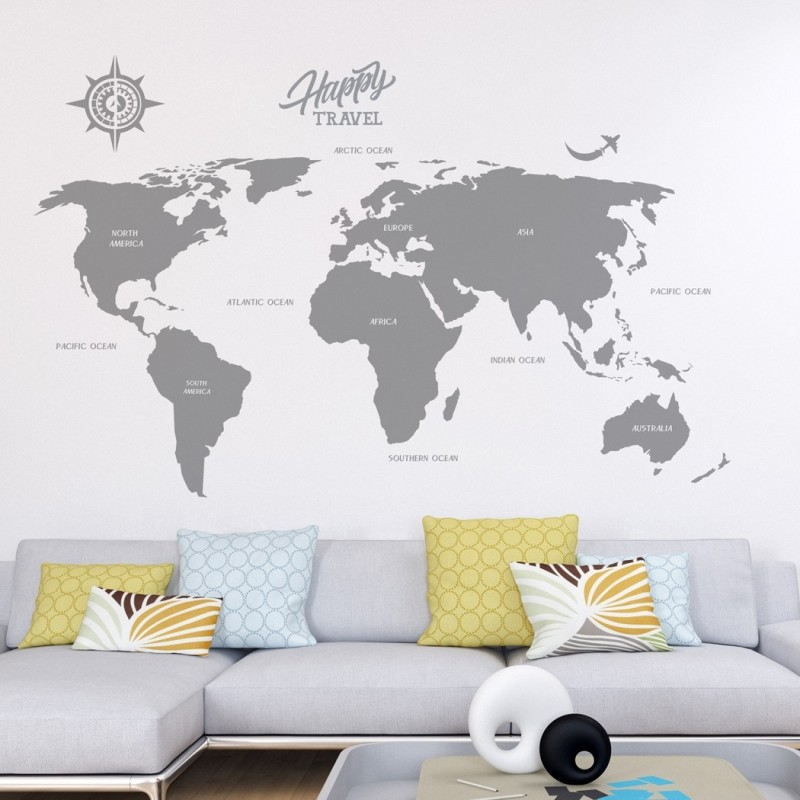 Large world map decal vinyl wall stickers for modern wall design large world map decal vinyl wall stickers for modern wall design for home decor gumiabroncs