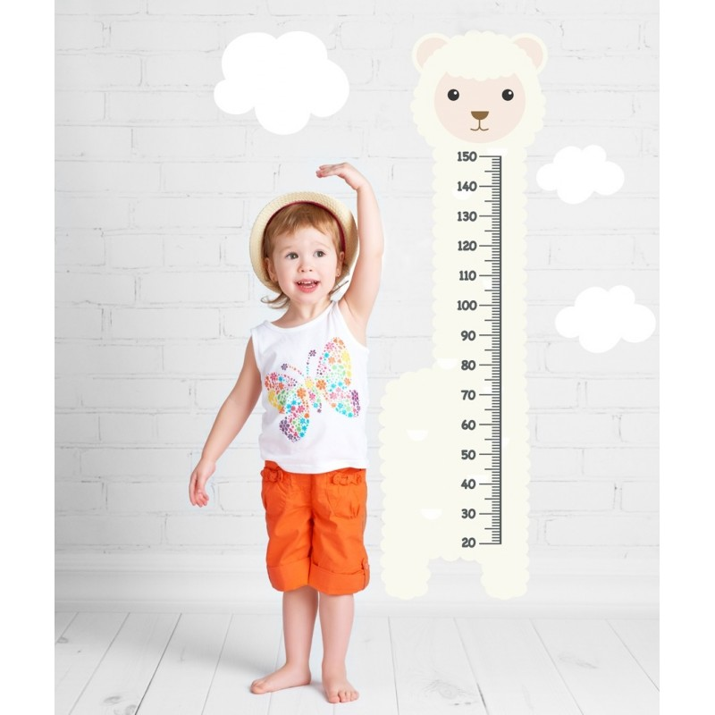 Lamb Growth chart, Meter Wall Stickers Height Chart for Nursery Room Decor