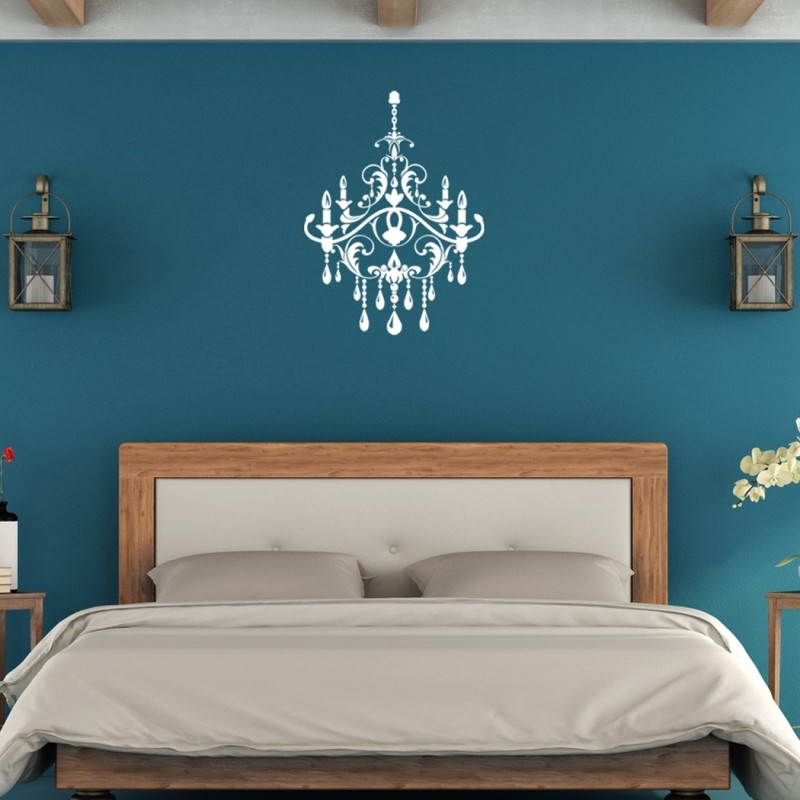 Chandelier Vinyl Wall decal, Wall Stickers for Modern Wall design for Home Decor Art Graphics