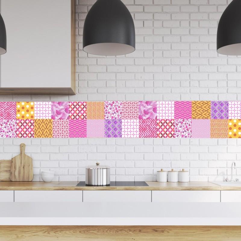 Tile decals Murcia - Set of 16 - Self adhesive Peel and Stick Tile Stickers for Backsplash bathroom Kitchen Home decor