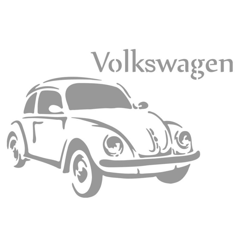 1955 Volkswagen Beetle Stencil Vintage Classic Car Reusable Template