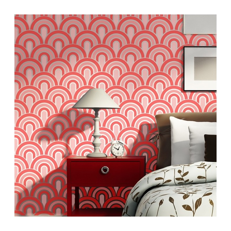 Wall Stencils Scallop Pattern Allover Stencil For Painting Better Than Wallpaper J Boutique