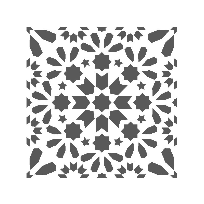 J BOUTIQUE STENCILS Tile Stencil Rio Tinto - Portuguese Tile
