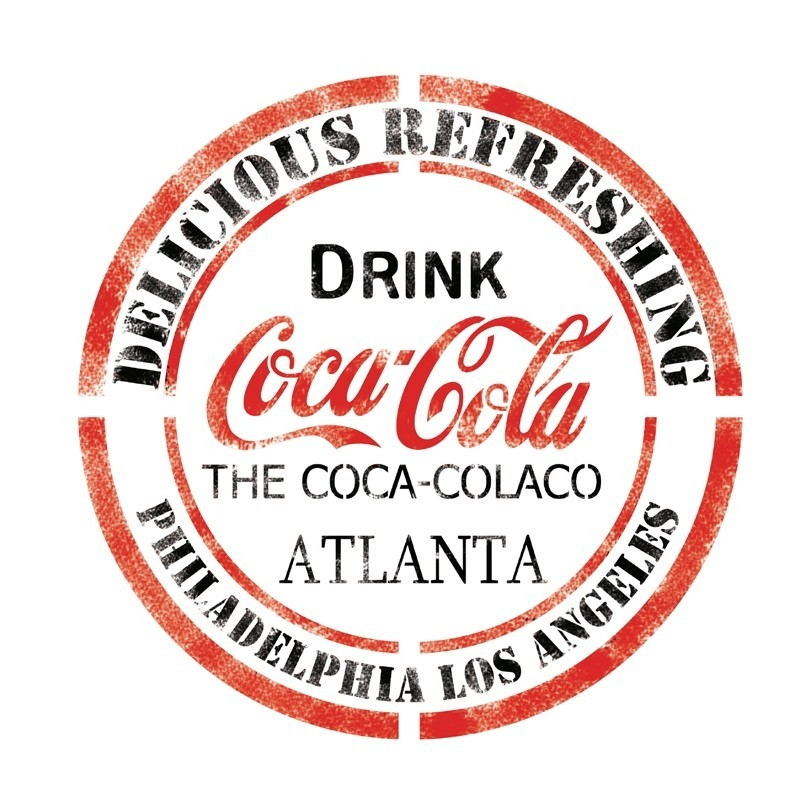 DRINK CocaCola Stencil Template for Crafting Wall graffiti art DIY decor