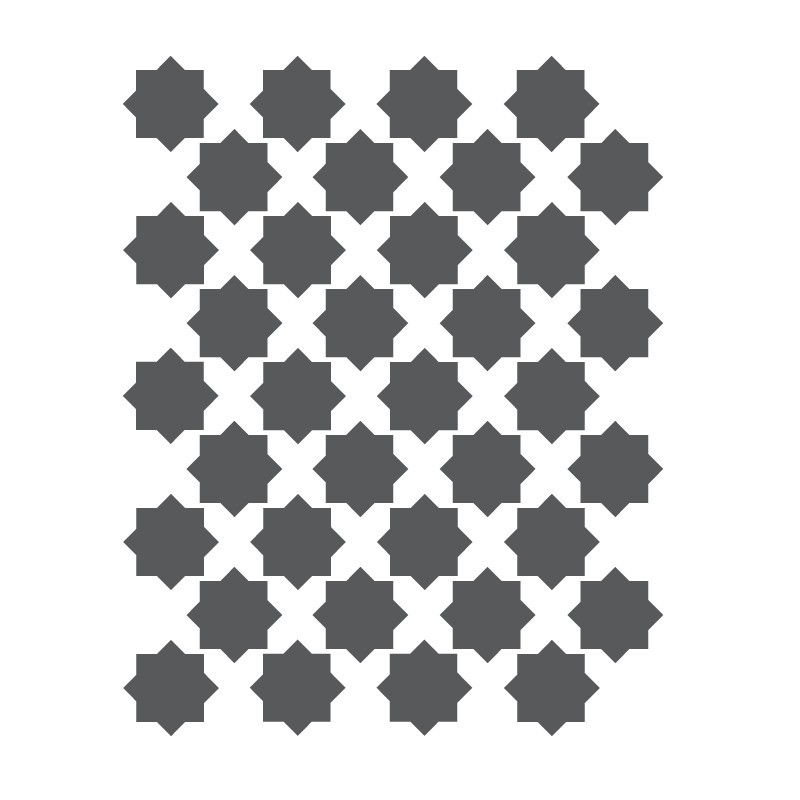Moroccan Star Stencils Template For Crafting Canvas Diy