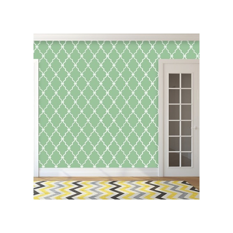 Moroccan Stencil Avril -set(2 sheets)- Large size for walls and fabric DIY decor