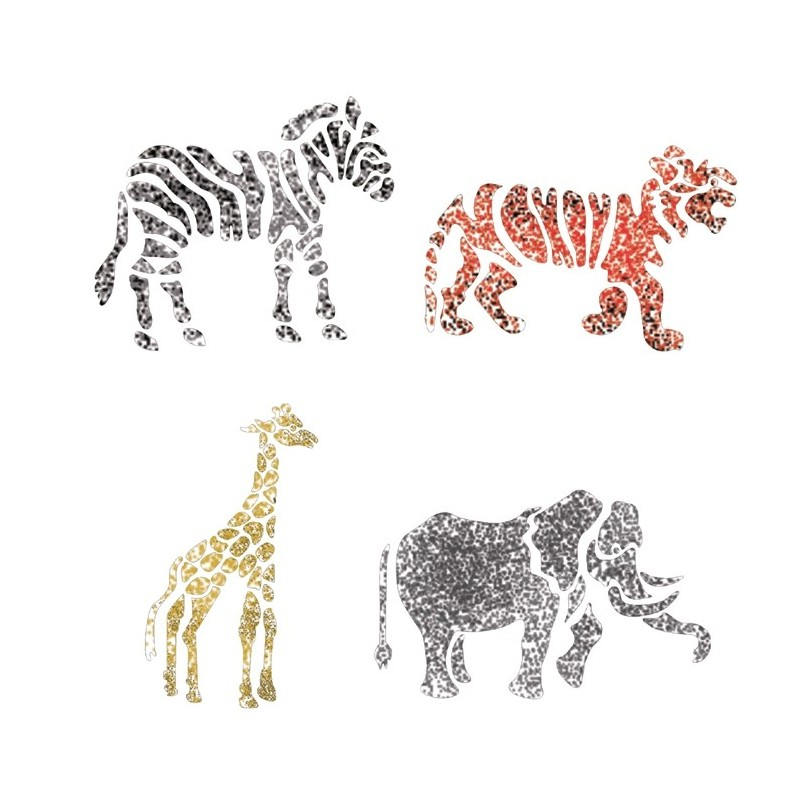 Stencils For Crafting DIY Room Decor Wall art furniture Template Animails Zoo