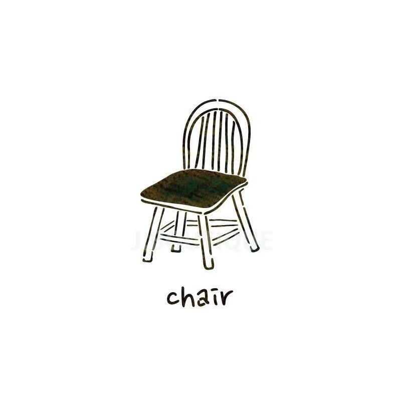 """WALL STENCILS PATTERN 9.05""""x6.49"""" Airbrush STENCIL TEMPLATE chair"""