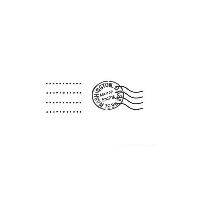 "WALL STENCILS PATTERN 6.49""X4.33"" Airbrush STENCIL TEMPLATE WASHINGTON postmark"