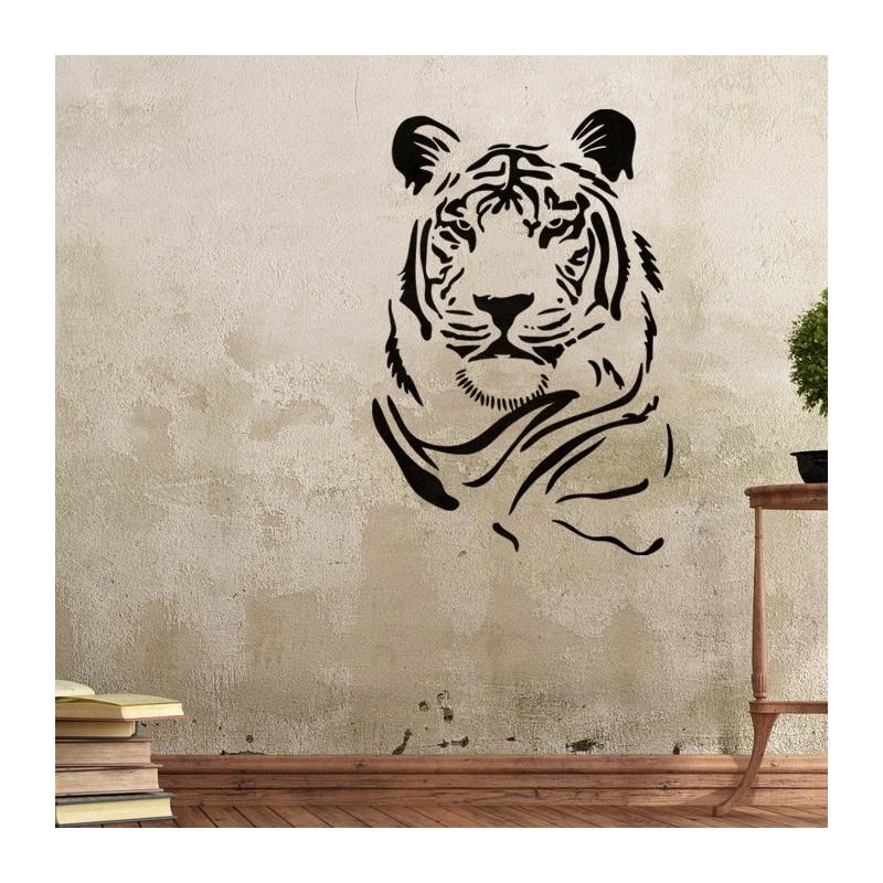 Wall Stencils Tiger Stencil Template for GRAFFITI better than wallpaper decals