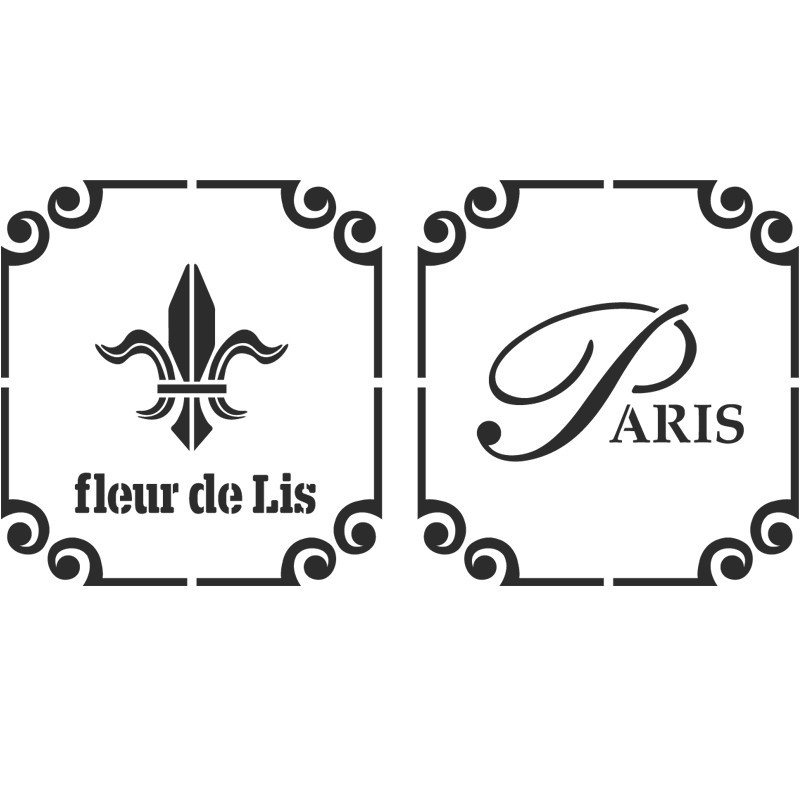 Fleur de lis Paris stencil Reusable Template for Crafts Wall decor Canvas
