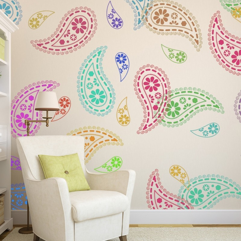 Paisley Stencil Pattern reusable wall stencils for DIY home decor ...