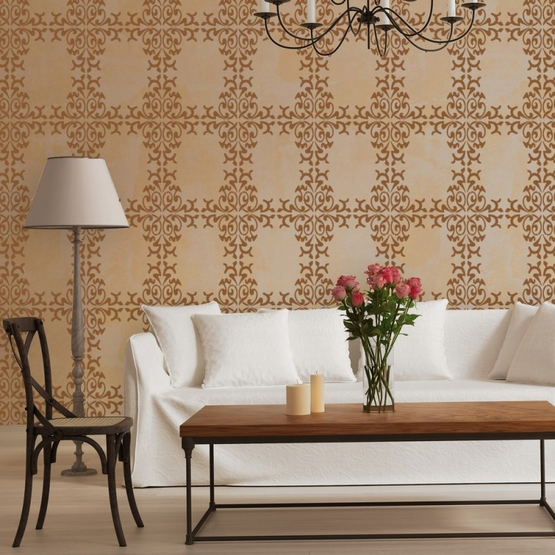Wall Damask Stencil Trellis Allover Stencils Sophie for Wall Decor and More