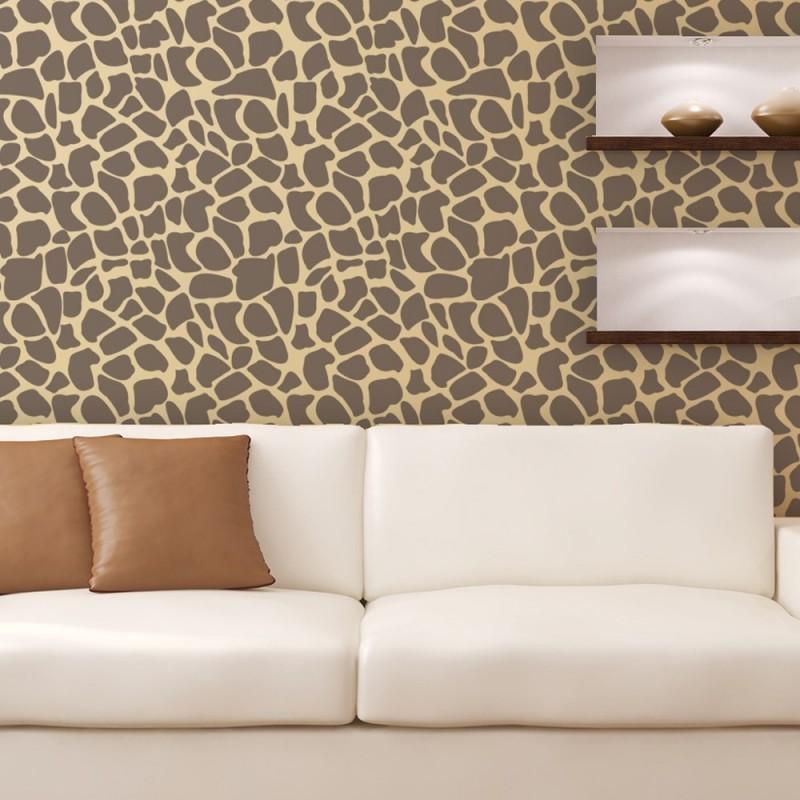 Stone Texture stencil - Allover reusable stencils for Large wall art DIY decor