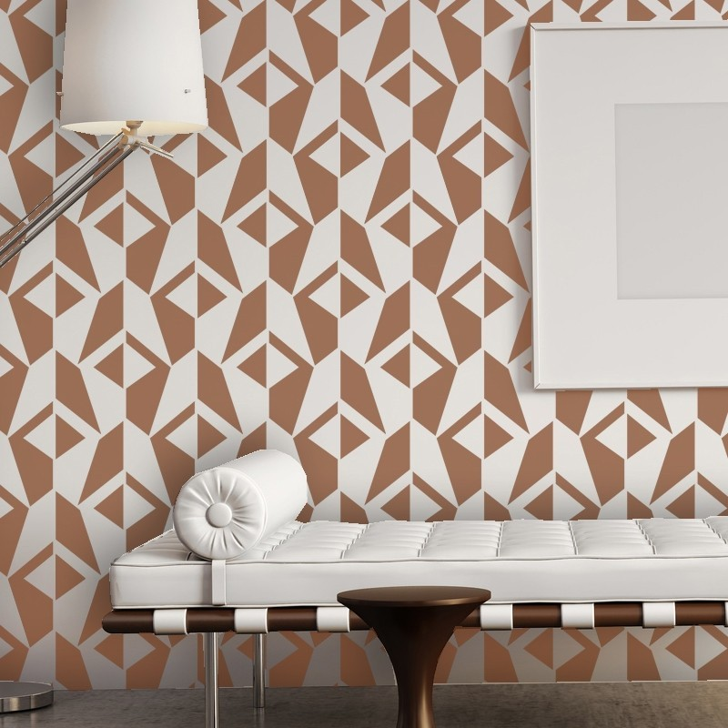 Wall Stencil Geometric Allover Pattern Jacqueline for Room DIY decor, Large size