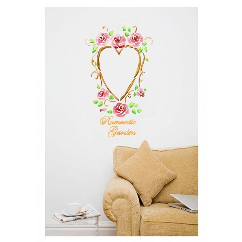 Wall Stencils Romantic Garden Stencil Template even better than wallpaper decals
