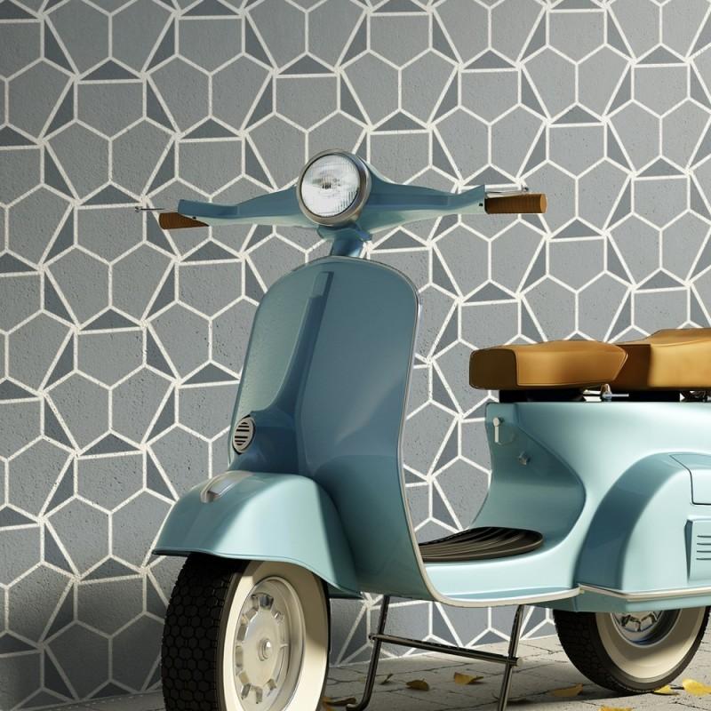 Wall Stencil hilda Modern look Geometric Pattern for Room Decor floor Painting