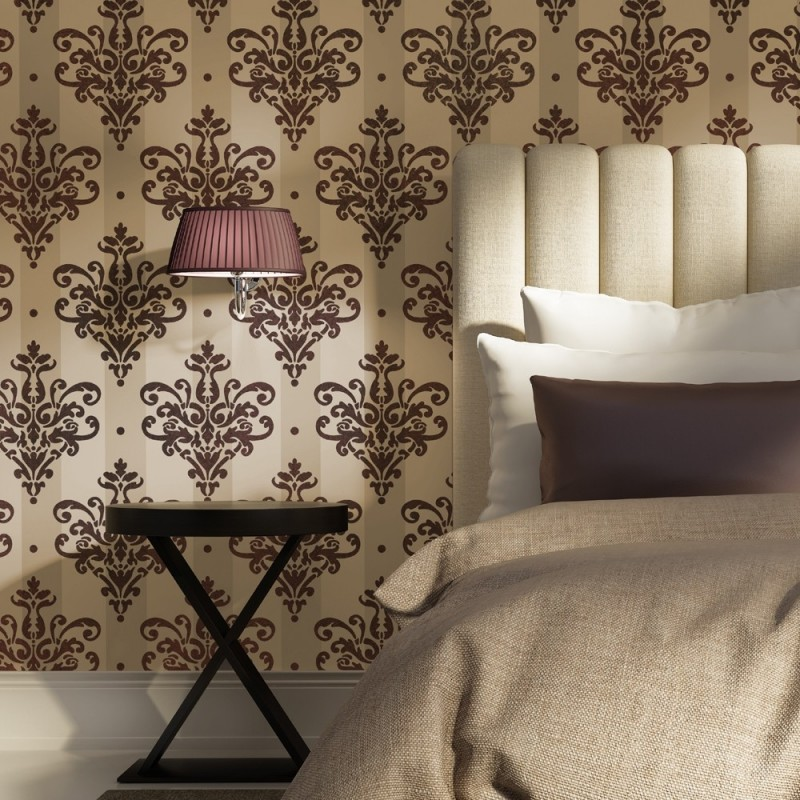 Reusable Wall Damask Stencil Damasque Template Mathilde - better than decals