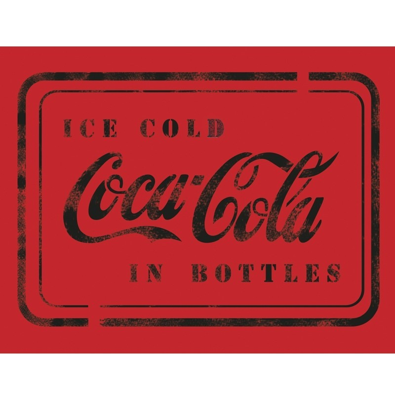 CocaCola in Bottles Stencil Template for Crafting Wall graffiti art DIY decor