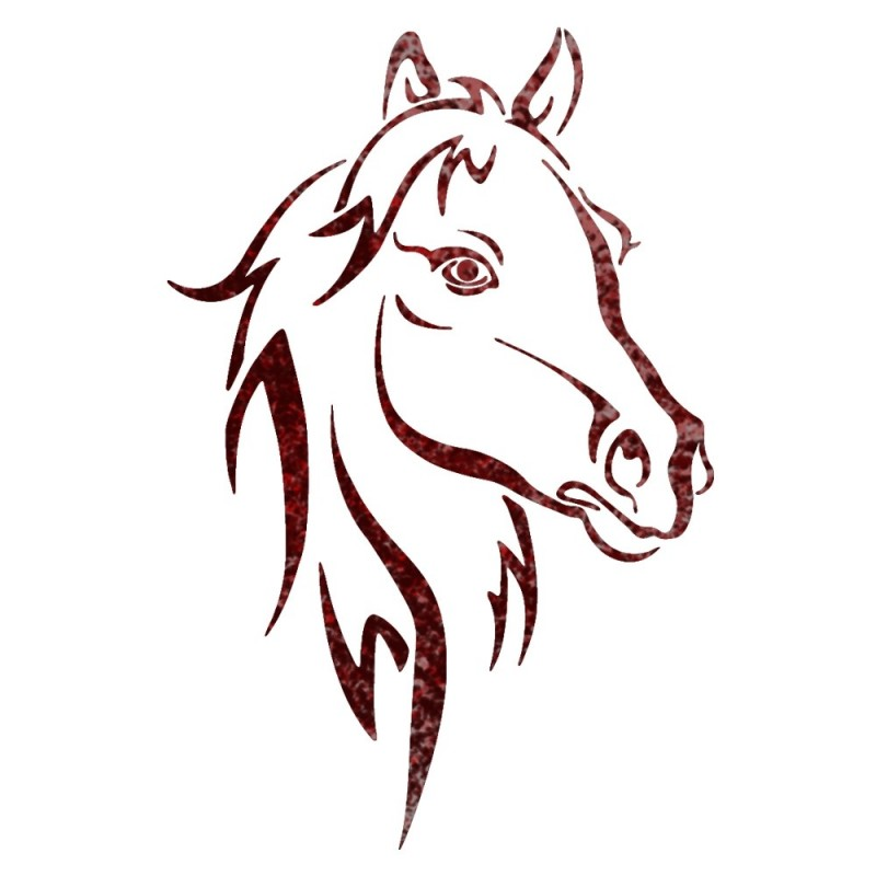 Horse Head Animal wall stencils for Wall art decor Reusable Template