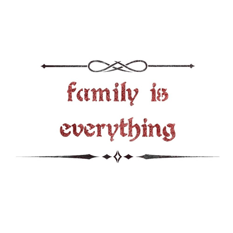 Family is everything Shabby chic Stencils reusable Airbrush template