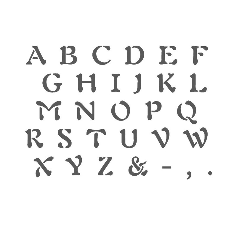 Alphabet Stencil Reusable Template for Wall Art Crafting and Painting Signs 3